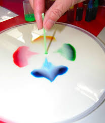 milk and food coloring