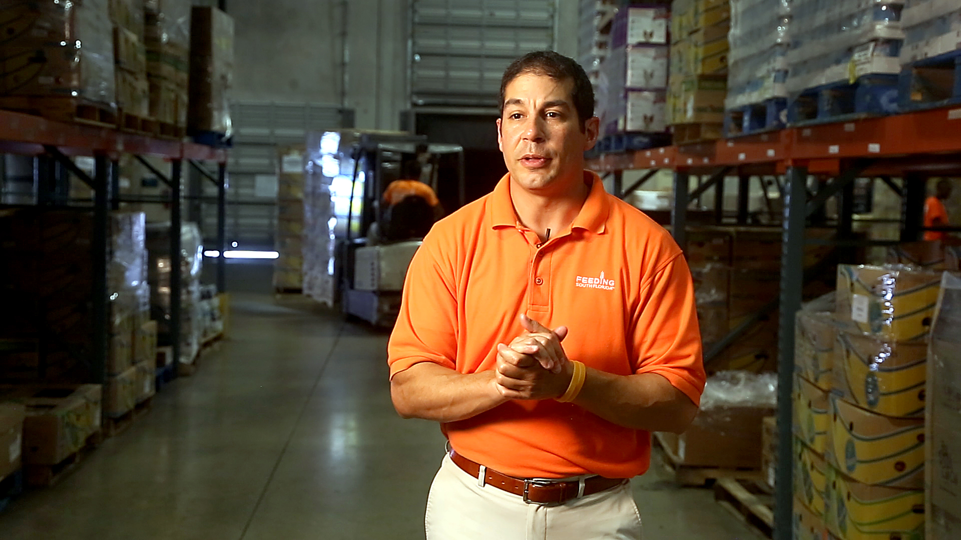 Paco Velez is the President and CEO of Feeding South Florida, the largest food bank in the area. This agency supplies food to smaller food pantries as well as runs mobile pantry events. It will be starting a new nutritional counseling effort for seniors soon.  MIKE STOCKER/STAFF PHOTOGRAPHER