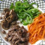Chopped_capsicum,_mushroom,_meat_and_carrot_in_a_plate