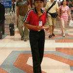 Female_Burger_King_employee_Suvarnabhumi_Airport_Thailand